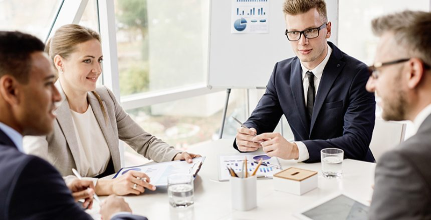 Group of business people planning work together at the table